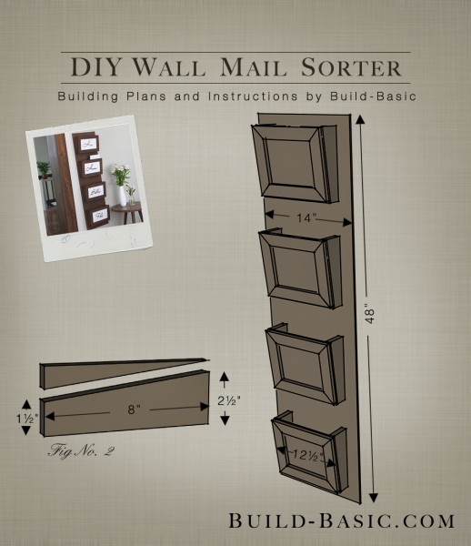 Build a DIY Wall Mail Sorter - Building Plans by @BuildBasic www.build-basic.com