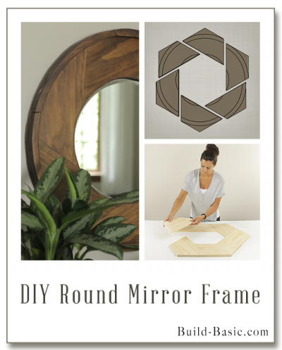 Build DIY Round Mirror Frame - Building Plans by @BuildBasic www.build-basic.com