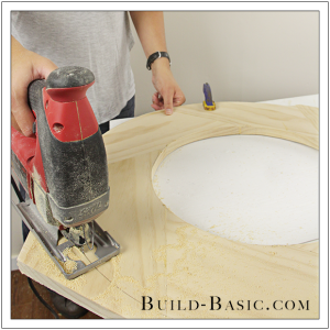 DIY Round Mirror Frame by Build Basic - Step 16
