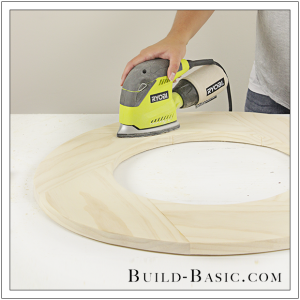 DIY Round Mirror Frame by Build Basic - Step 20