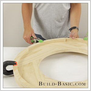 DIY Round Mirror Frame by Build Basic - Step 21