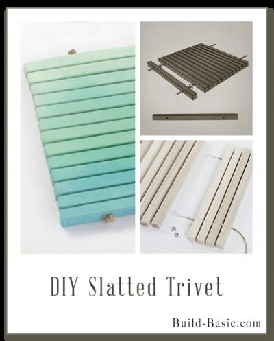 Build a DIY Slatted Trivet - Building Plans by @BuildBasic www.build-basic.com