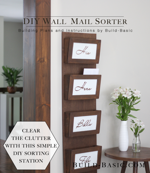 Build A Diy Wall Mail Sorter