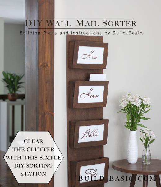 Build A Diy Wall Mail Sorter Build Basic
