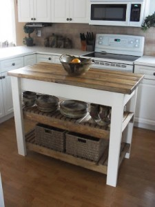 Honme Frosting Kitchen Island