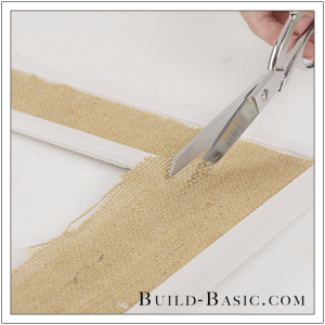 DIY Burlap Picture Frame by Build Basic - Step 11