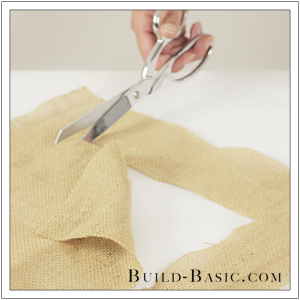 DIY Burlap Picture Frame by Build Basic - Step 10