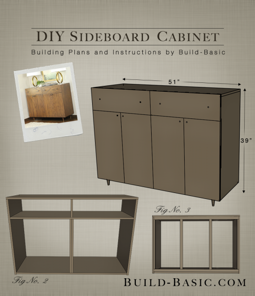 build a diy sideboard cabinet build basic. Black Bedroom Furniture Sets. Home Design Ideas