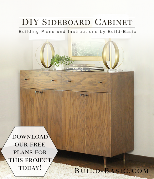 Build a DIY Sideboard Cabinet - Building Plans by @BuildBasic www.build-basic.com