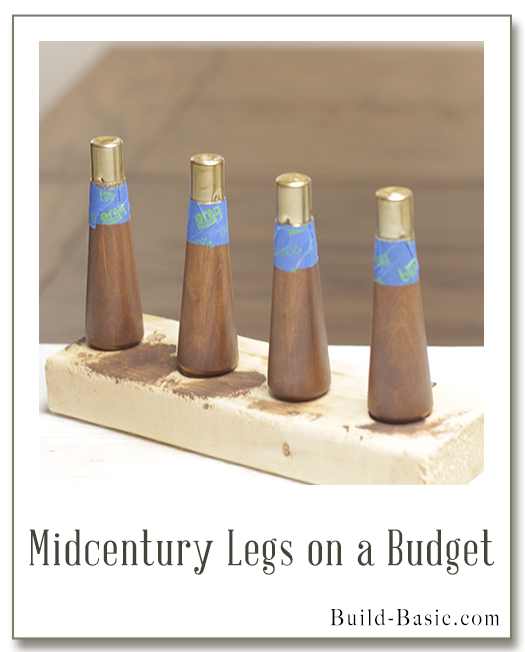 Midcentury Legs on a Budget by Build Basic - Display Frame