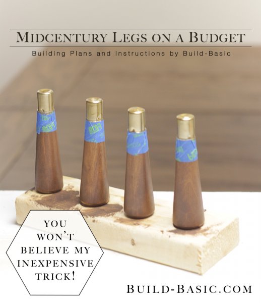 Midcentury Legs on a Budget - Project by @BuildBasic www.build-basic.com