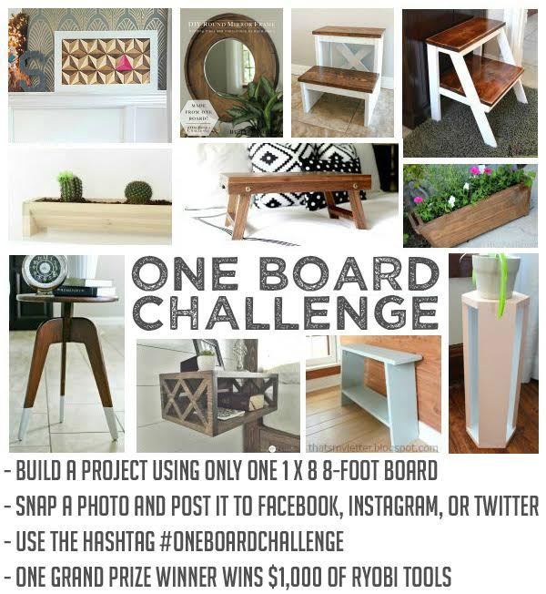One Board Challenge and Tooll Giveaway at Build-Basic.com