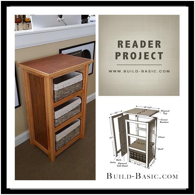 Basket Storage Cabinet - Reader Project Split