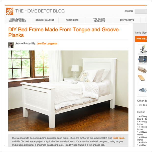 Build a DIY Beadboard Twin Bed by Build Basic - The HOme Depot Blog Screenshot