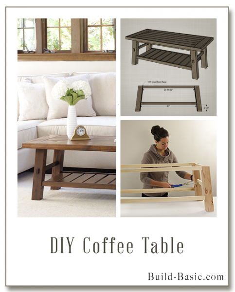 Build A DIY Coffee Table   Building Plans By @BuildBasic Www.build Basic