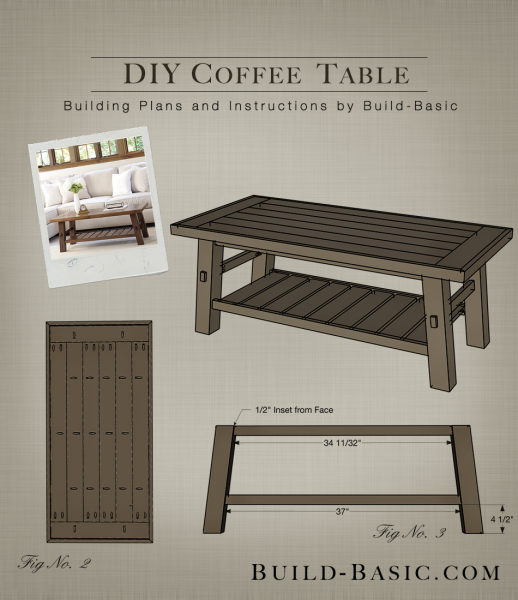 Build A Diy Coffee Table Building Plans By Buildbasic Www Build Basic