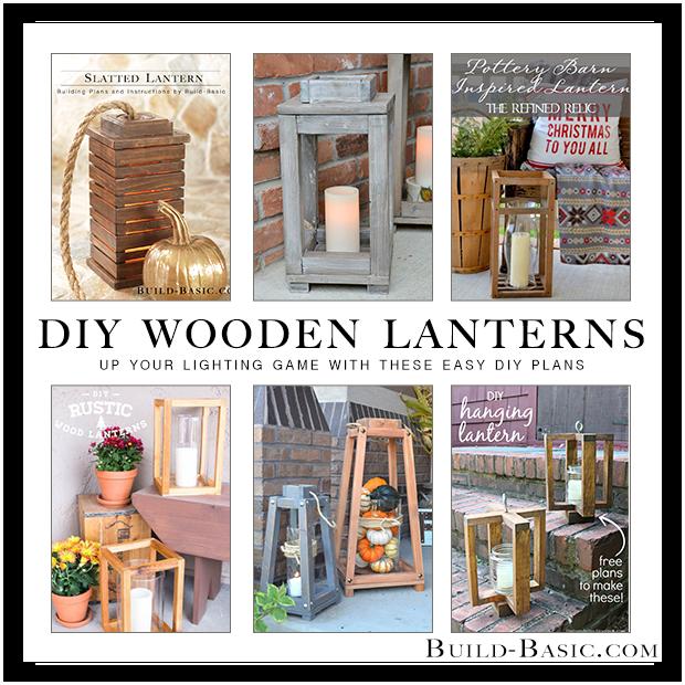 DIY Wooden Lantern Roundup by Build Basic