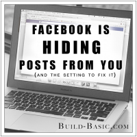 Facebook is Hiding Posts From You - By Build Basic - Intro