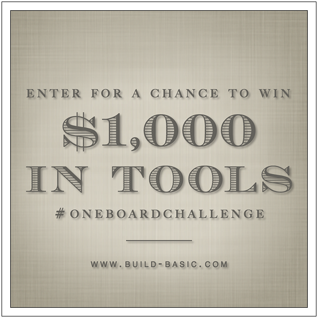 One Board Challenge and Tool Giveaway