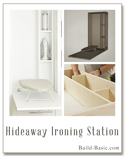 Hideaway Ironing Station – Part of The Build Basic Closet System –Building Plans by @BuildBasic www.build-basic.com