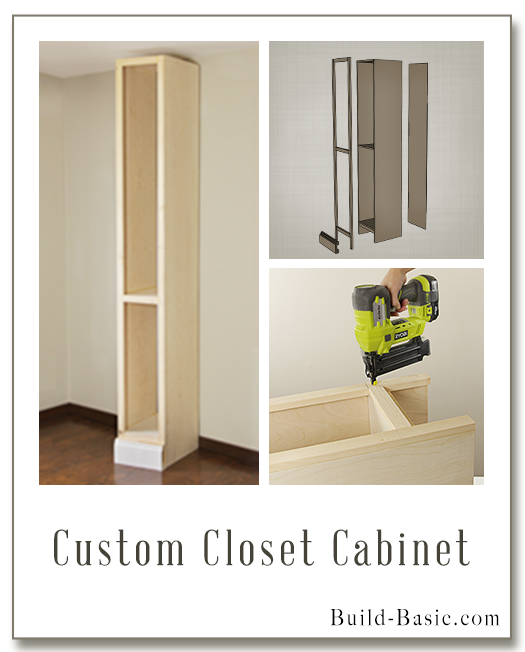Custom Closet Cabinet - Part of The Build Basic Closet System -Building Plans by @BuildBasic www.build-basic.com