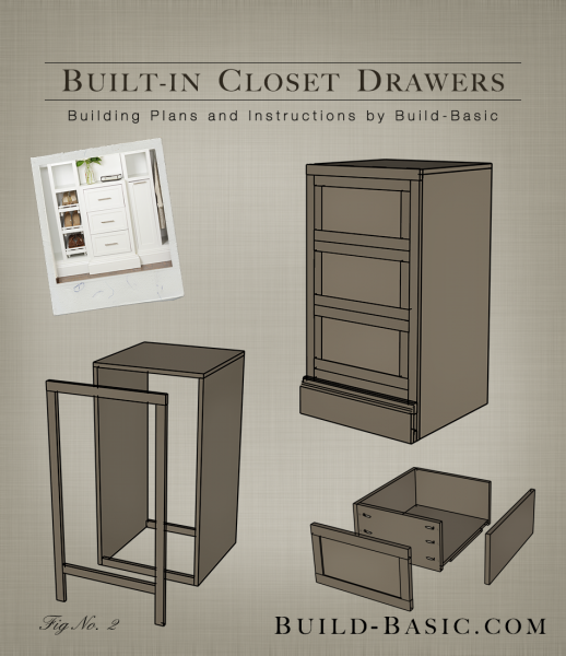 Built In Closet Drawers Part Of The Build Basic System Building Plans