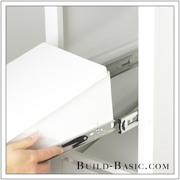 The Build Basic Custom Closet System   Pull Out Shoe Organizer   Step 11