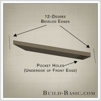 The Build Basic Custom Closet System - Pull Out Shoe Organizer - Step 2 - Drawing