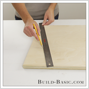 The Build Basic Custom Closet System - Tilt-out Hamper - Step 1