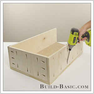The Build Basic Custom Closet System - Tilt-out Hamper - Step 12