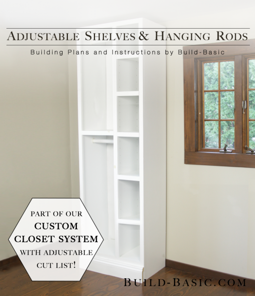 The Build Basic Custom Closet System By Build Basic   Adjustable Shelves  And Hanging Rods