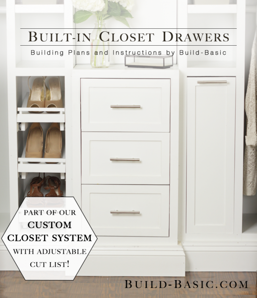 builtin closet drawers u2013 part of the build basic closet system plans
