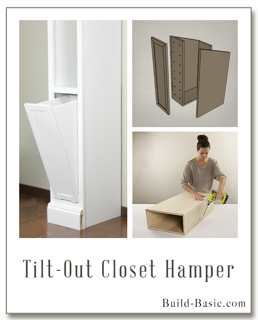 Tilt-Out Closet Hamper - Part of The Build Basic Closet System -Building Plans by @BuildBasic www.build-basic.com
