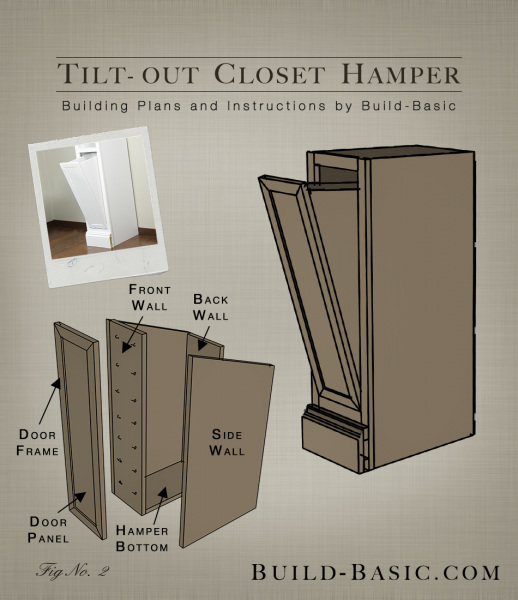 Tilt-Out Closet H&er u2013 Part of The Build Basic Closet System u2013Building Plans & The Build Basic Custom Closet System u2013 Tilt-Out Closet Hamper ... pezcame.com