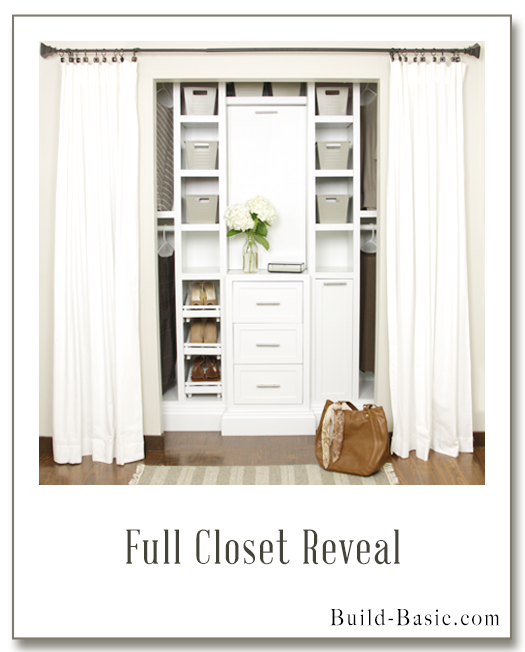 The Build Basic Closet System - Closet Reveal - Display Frame
