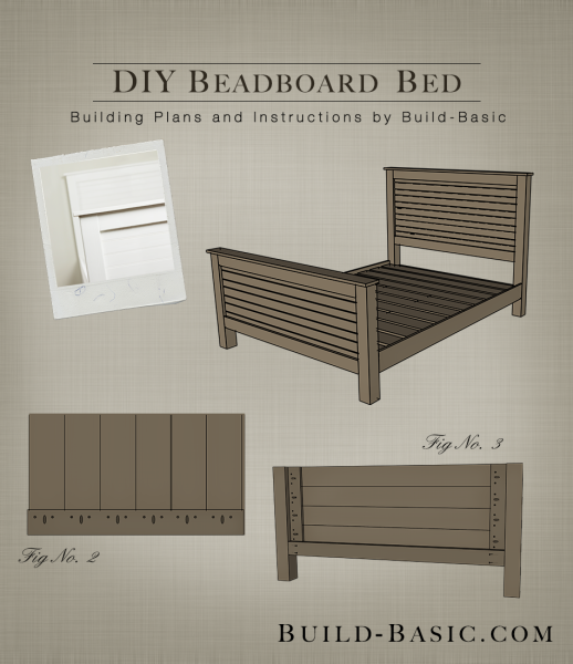 Build a DIY Beadboard Bed - Building Plans by @BuildBasic www.build-basic.com