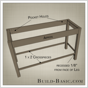 DIY Open Kitchen Island by Build Basic - Step 3
