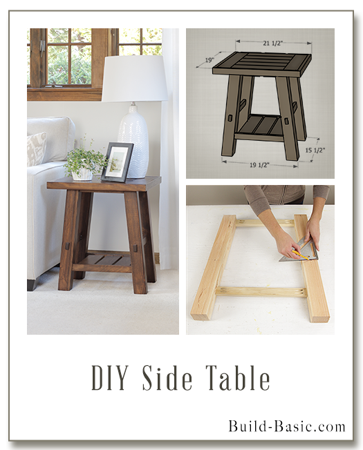 Build A Diy Side Table Building Plans By Buildbasic Www Basic