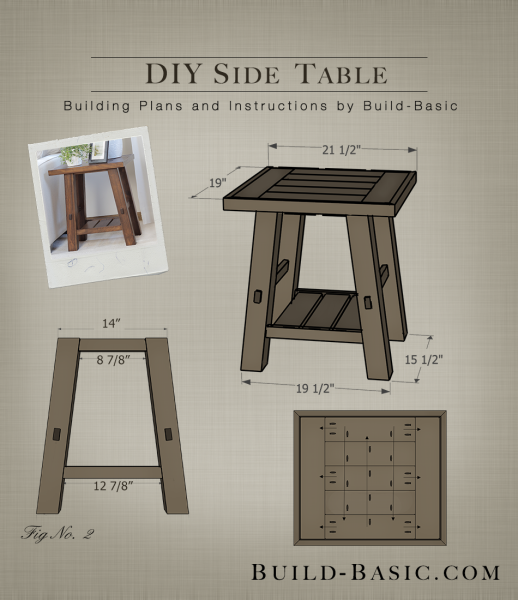 Build A DIY Side Table   Building Plans By @BuildBasic Www.build Basic