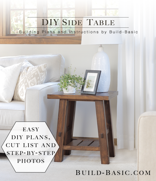 Build a diy side table build basic for Diy coffee and end tables
