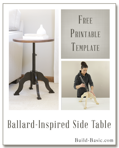 Build a Ballard-Inspired Side Table – Building Plans by @BuildBasic www.build-basic.com