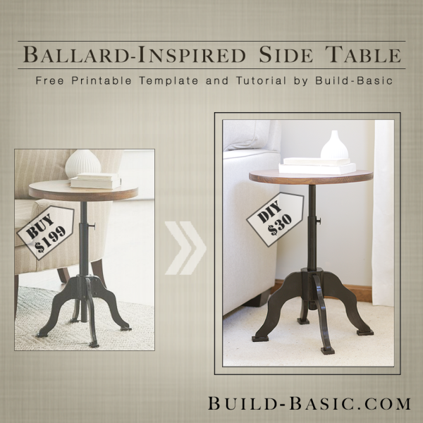 Build a Ballard-Inspired Side Table - Building Plans by @BuildBasic www.build-basic.com Build a Ballard-Inspired Side Table - Building Plans by @BuildBasic www.build-basic.com
