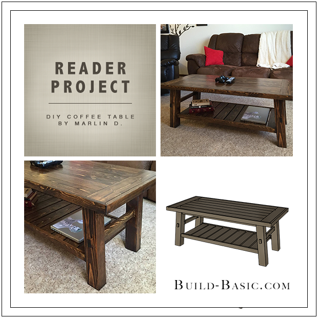 Build Basic - DIY Coffee Table by reader Marlin Dart - www.build-basic.com
