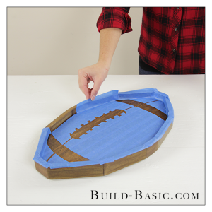 Build a DIY Football Tray by Build Basic - Step 12