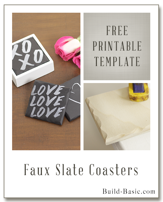 Make DIY Faux Slate Coasters – Project Plans by @BuildBasic www.build-basic.com
