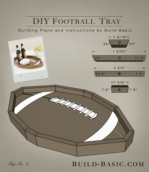 Build a DIY Football Tray – Building Plans by Build Basic @BuildBasic www.build-basic.com