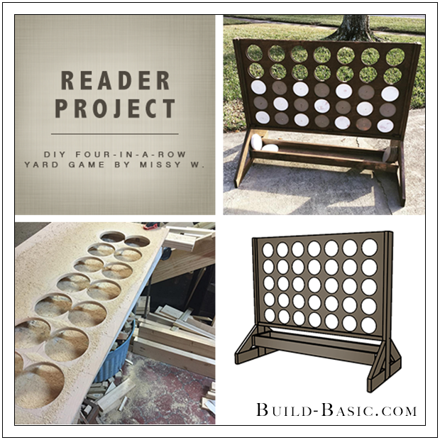 Build Basic Reader Project - DIY Four-in-a-Row Yard Game by Missy W. - www.build-basic.com