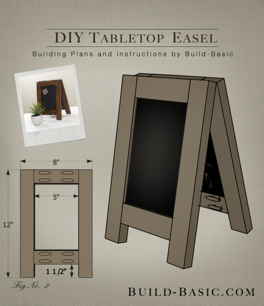 Build a DIY Tabletop Easel - Building Plans by @BuildBasic www.build-basic.com