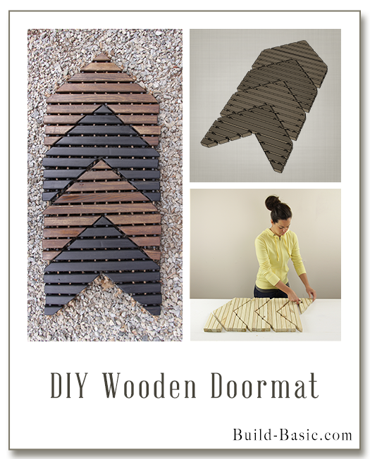 Build a DIY Wooden Doormat - Building Plans by @BuildBasic www.build-basic.com