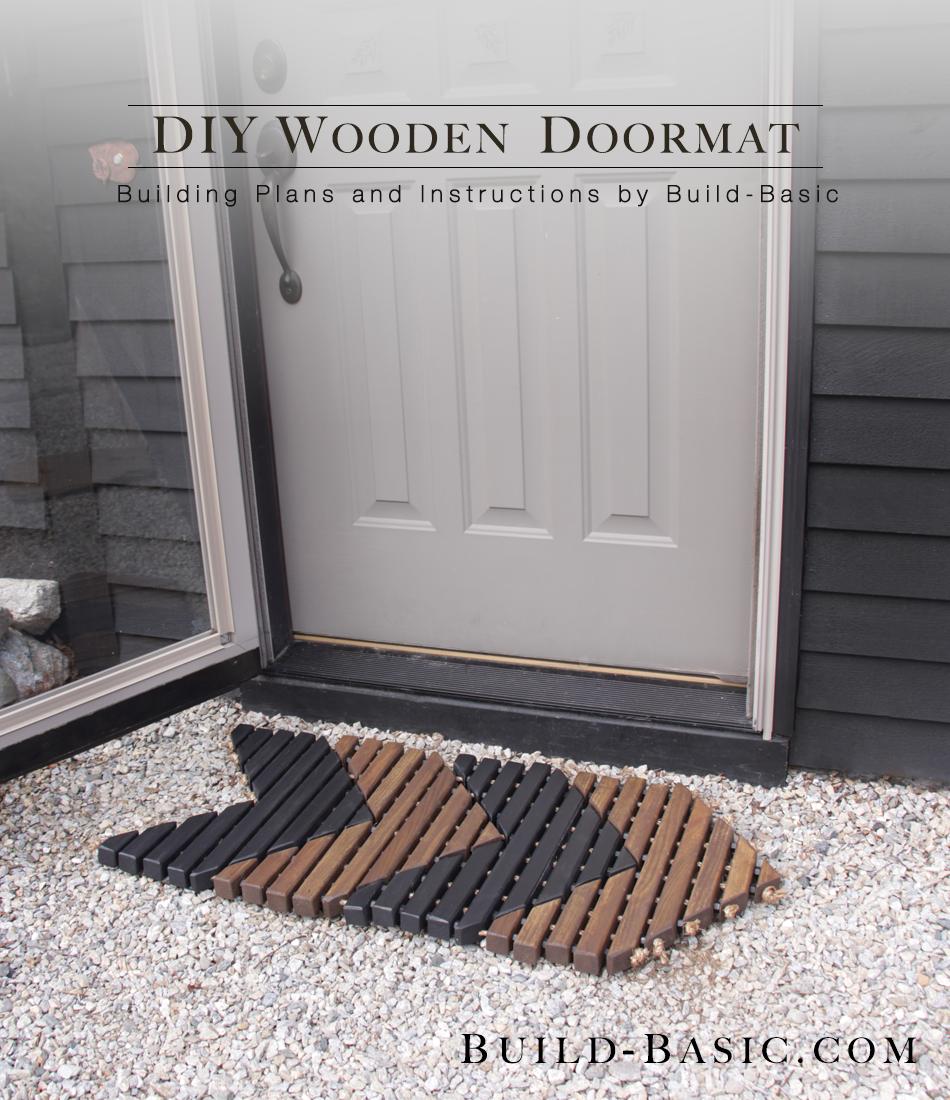 Build a diy wooden doormat build basic for Diy wood door projects